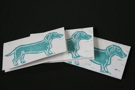 Daschund cards